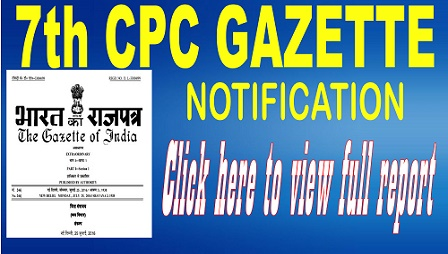 7th cpc gazette notification
