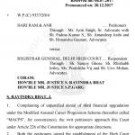 IMPORTANT – DELHI HIGH COURT JUDGEMENT ON MACP