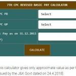 Revised Pay Calculator for J&K Govt Employees