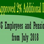 Cabinet Approved 2% Additional DA & DR for CG Employees and Pensioners from July 2018